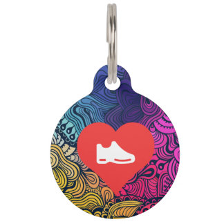 I Heart shoes Icon Pet ID Tags