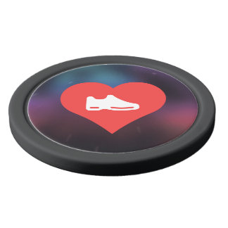 I Heart shoes Icon Poker Chips