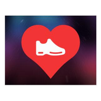 I Heart shoes Icon Postcard