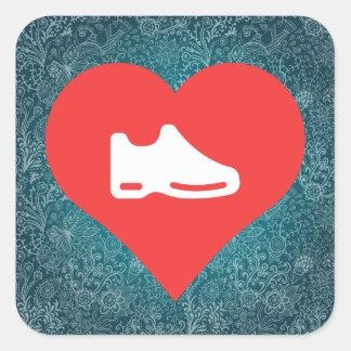 I Heart shoes Icon Square Sticker