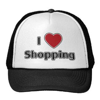 I Heart Shopping Mesh Hat