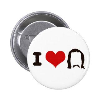 I Heart Silhouette 6 Cm Round Badge