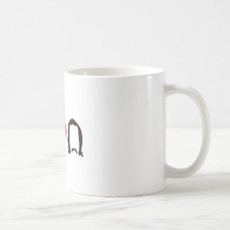 I Heart Silhouette Basic White Mug