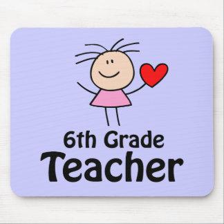 I Heart Sixth Grade Teacher Mouse Pad