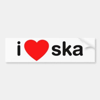 I Heart Ska Bumper Sticker