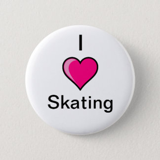 I Heart Skating Button