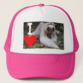 I heart sloths trucker hat