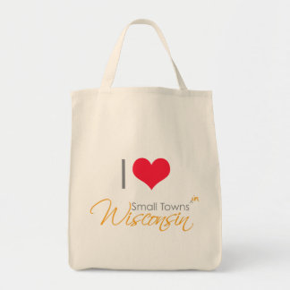 I Heart Small Towns (in) Wisconsin Grocery Tote Bag