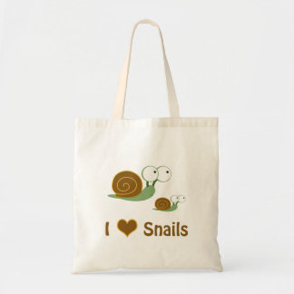 I Heart Snails- two cute snails Tote Bag