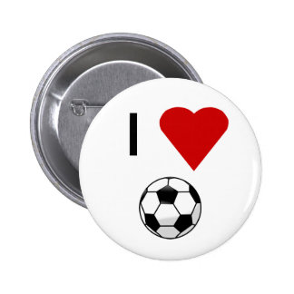 I Heart Soccer Button
