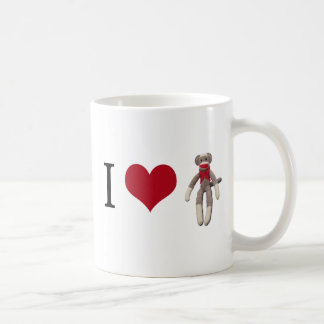 I Heart Sock Monkey Coffee Mug
