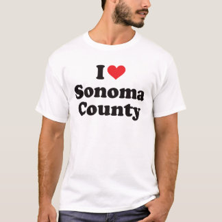 I Heart Sonoma County T-Shirt