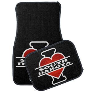 I Heart South Dakota Car Mat