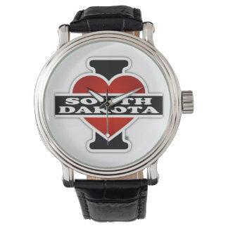 I Heart South Dakota Wrist Watches