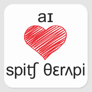 I heart Speech Therapy Square Sticker