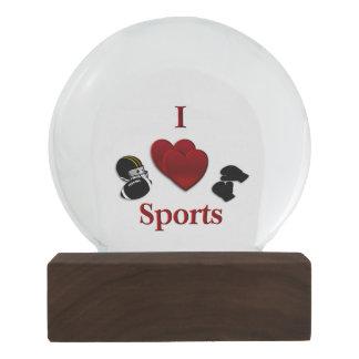 I Heart Sports Snow Globe