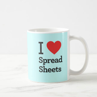 I Heart Spreadsheets Coffee Mug