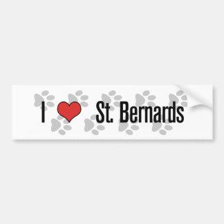 I (heart) St. Bernards Bumper Stickers