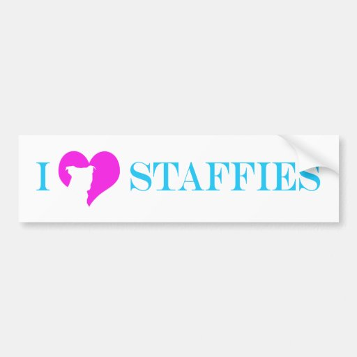 i heart Staffies - Bumper Sticker
