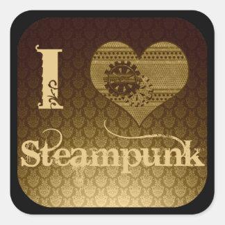 I Heart Steampunk Square Sticker