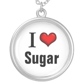 I Heart Sugar ~ Sterling Silver Necklace