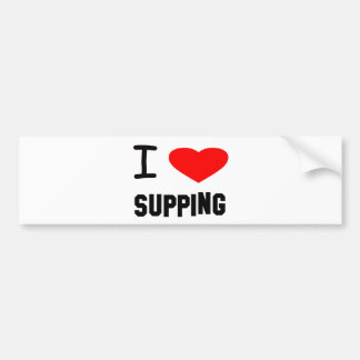 I Heart supping Bumper Stickers