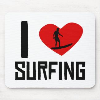 I Heart Surfing Mousepad