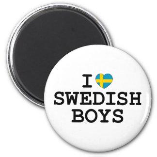 I Heart Swedish Boys 6 Cm Round Magnet