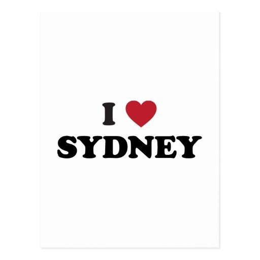 I Heart Sydney Australia Postcards