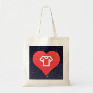 I Heart T-Shirts Icon Budget Tote Bag
