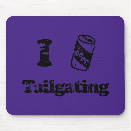 I Heart Tailgating with Beer Can - Any Team Colors Mouse Pads