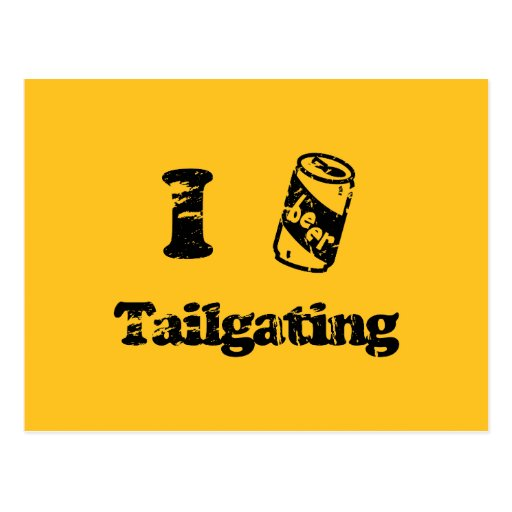 I Heart Tailgating with Beer Can - Any Team Colors Postcard