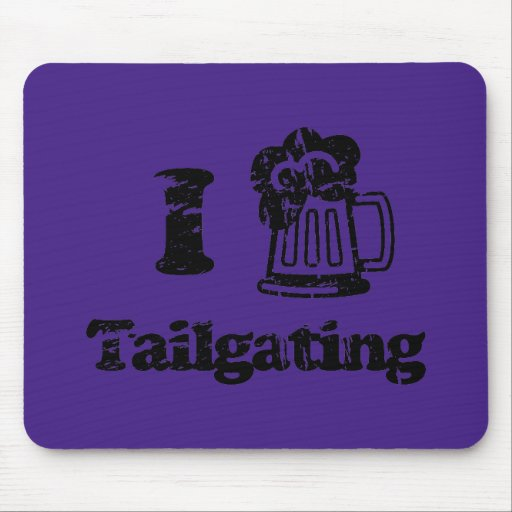 I Heart Tailgating with Beer Mug - Any Team Colors Mousepad