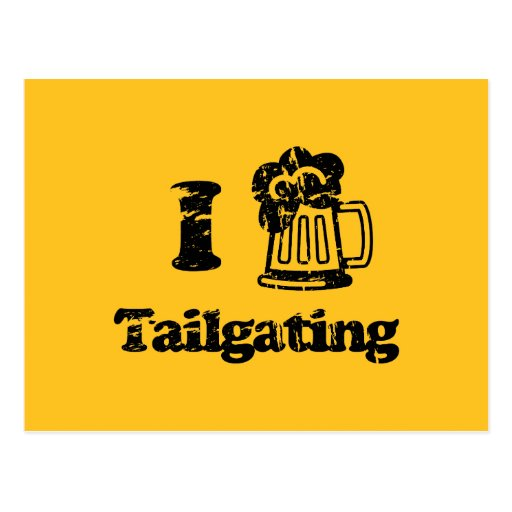 I Heart Tailgating with Beer Mug - Any Team Colors Post Card