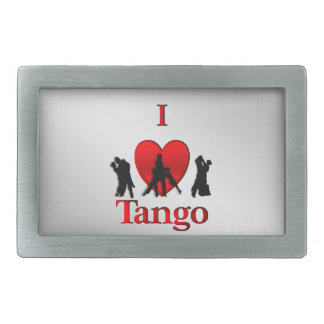 I Heart  Tango Dance Design Belt Buckles