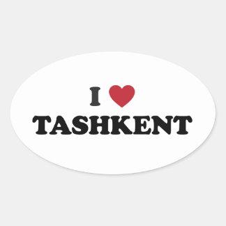 I Heart Tashkent Uzbekistan Oval Sticker