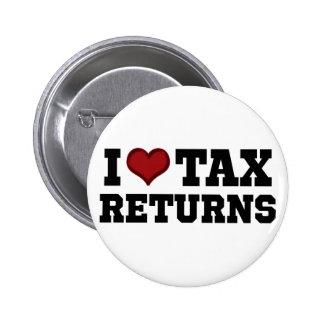 I Heart Tax Returns Pins