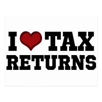 I Heart Tax Returns Postcard