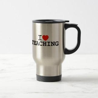 I Heart Teaching Travel Mug