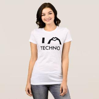 I Heart Techno Mikey Girls T T-Shirt