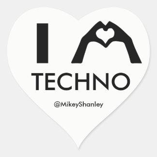 I HEART Techno Sticker