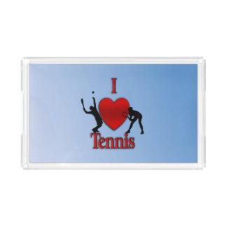 I Heart Tennis Blue Skies Acrylic Tray