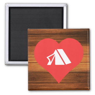 I Heart Tents Icon Magnet