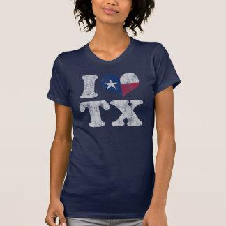 I heart Texas Flag TX Tee Shirts