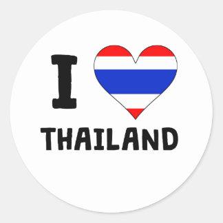 I Heart Thailand Round Stickers