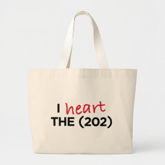 I heart the (202) large tote bag