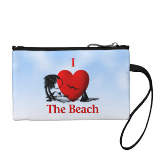 I Heart The Beach Coin Purse