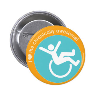 I {heart} the Chronically Awesome 6 Cm Round Badge