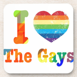 I Heart The Gays Drink Coaster