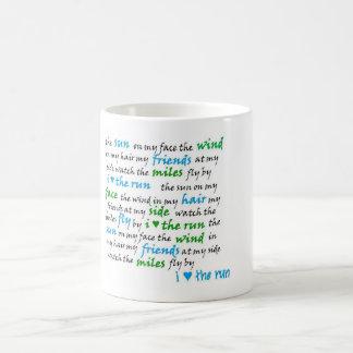 I heart  the run mug! coffee mug